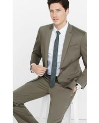Express Slim Photographer Cotton Sateen Light Brown Suit Jacket ...