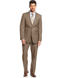 Kenneth Cole Reaction Tan Tick Slim Fit Suit