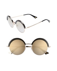 WEB 51mm Round Sunglasses