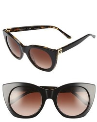 Tory Burch 52mm Cat Eye Sunglasses Brown Gradient