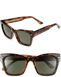 Spitfire 53mm Retro Sunglasses Black Dark Green