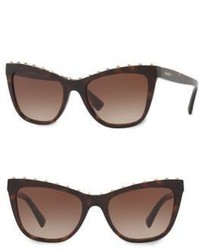 Valentino Garavani 54mm Rockstud Cat Eye Sunglasses