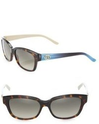 Gucci 54mm Two Tone Wayfarer Sunglasses