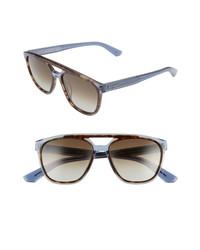 Salvatore Ferragamo 55mm Navigator Sunglasses