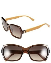 Fendi 55mm Retro Sunglasses Transparent Brown
