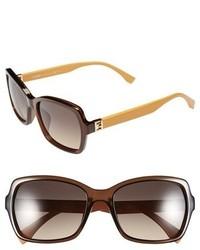 Fendi 55mm Retro Sunglasses Transparent Brown