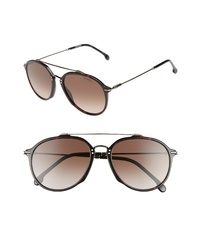 Carrera Eyewear 55mm Round Sunglasses