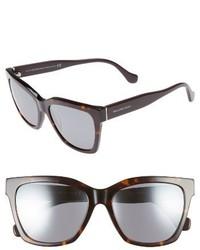 Balenciaga 55mm Sunglasses Black Red Horn Gradient Smke