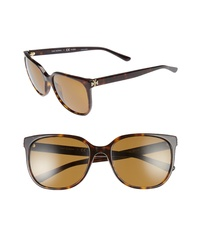 Tory Burch 57mm Polarized Sunglasses