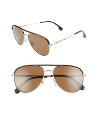Carrera Eyewear 58mm Polarized Aviator Sunglasses