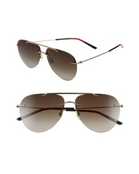 Gucci 60mm Rimless Aviator Sunglasses