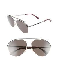 Fendi 61mm Aviator Sunglasses