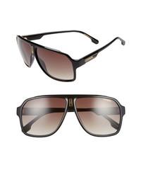 Carrera Eyewear 62mm Oversize Polarized Flat Top Aviator Sunglasses