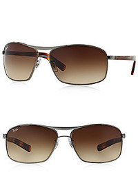 Ray-Ban 64mm Square Sunglasses