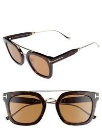 Tom Ford Alex 51mm Sunglasses Dark Havana Brown