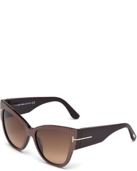 Tom Ford Anoushka Butterfly Sunglasses Iridescent Brown
