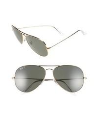 Ray-Ban Aviator Polarized 62mm Sunglasses