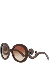 Prada Baroque Sunglasses Brown