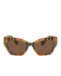 Burberry Beige Check Cat Eye Sunglasses