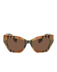 Burberry Beige Check Cat Eye Sunglasses