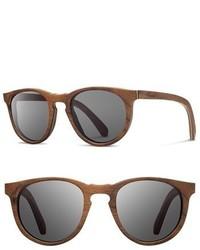 Shwood Belmont 48mm Wood Sunglasses Walnut