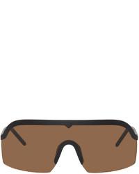 Kenzo Black Brown Shield Sunglasses