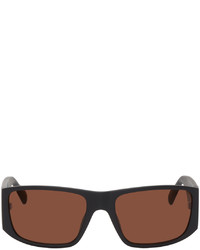 Kenzo Black Sport Rectangular Sunglasses