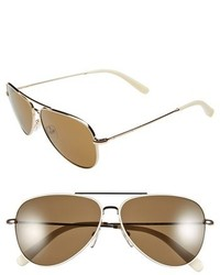 Bobbi Brown The Dakota 59mm Aviator Sunglasses Black