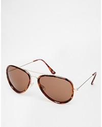 23ce302b3f5 ... Asos Brand Aviator Sunglasses In Tort