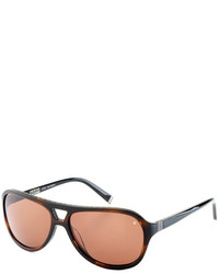 John Varvatos Brown Sunglasses