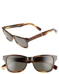 Shwood Canby 53mm Polarized Sunglasses Tortoise Mahogany Burl Grey