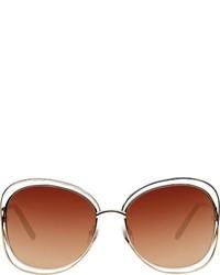 Chloé Carlina Sunglasses Brown