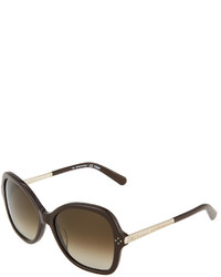 Chloé Chloe Butterfly Two Tone Sunglasses Brown