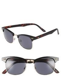 Topman Clubmaster 50mm Sunglasses Brown