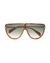 Rag & Bone D Frame Acetate And Gold Tone Sunglasses