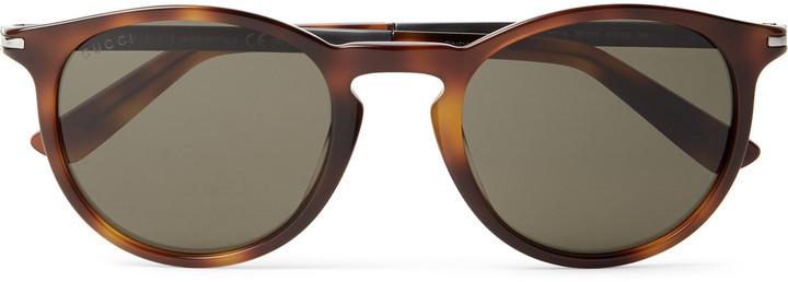 f16f4153be ... Gucci D Frame Tortoiseshell Acetate Sunglasses ...