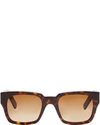 Marni Dark Brown Tortoiseshell Square Sunglasses