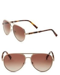Max Mara Desigs 57mm Aviator Sunglasses