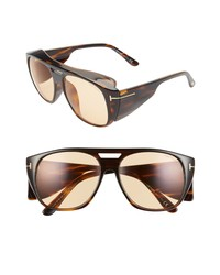 Tom Ford Fender 56mm Square Sunglasses
