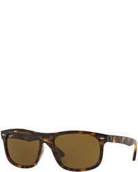 Ray-Ban Flat Top Plastic Sunglasses Havana