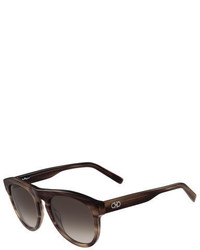 Gancini round acetate sunglasses medium 713275