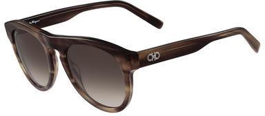 Salvatore Ferragamo Gancini Round Acetate Sunglasses