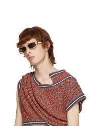Y/Project Gold Linda Farrow Edition Rectangular Sunglasses