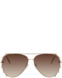 Alexander McQueen Gold Studded Sunglasses