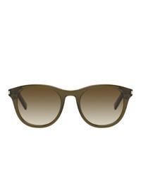 Saint Laurent Green Sl 401 Sunglasses