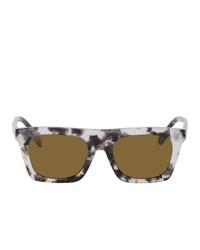 Burberry Grey Marble Rectangular Sunglasses