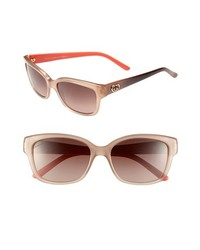 Gucci 54mm Sunglasses Brown Pink One Size
