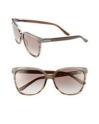 Gucci 57mm Sunglasses Brown Azure One Size