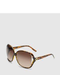 Gucci Tortoise Square Sunglasses