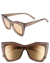 Le Specs Kick It 54mm Sunglasses Pebble